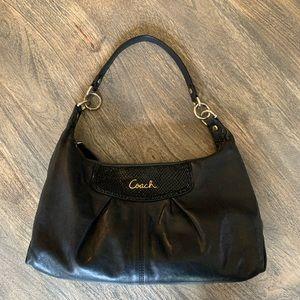 Coach Leather Hobo Bag - Black